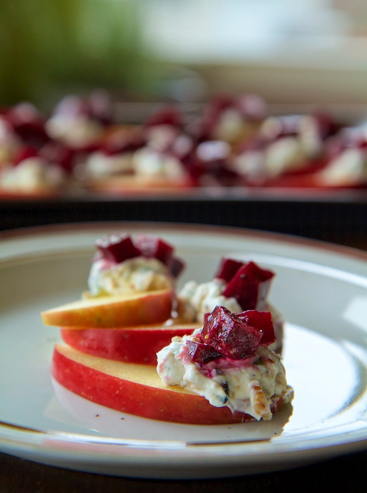 Savory Fall Apple and Beet Bites | Local Food Rocks