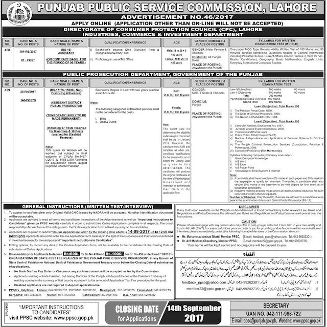 Jobs in PPSC Jobs in Punjab