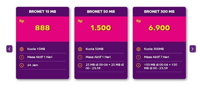 Paket Internet Axis Bronet Terbaru 2017