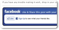 How To Add Stylish Facebook Like Box Below Blogger Posts