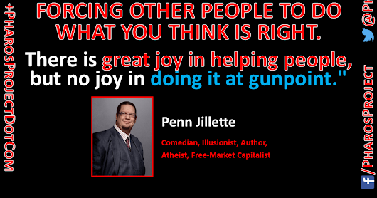 #TaxationIsNotCharity #Taxation #Confiscation #Charity #Compassion #Morality #Welfare #SoakTheRich @PennJillette