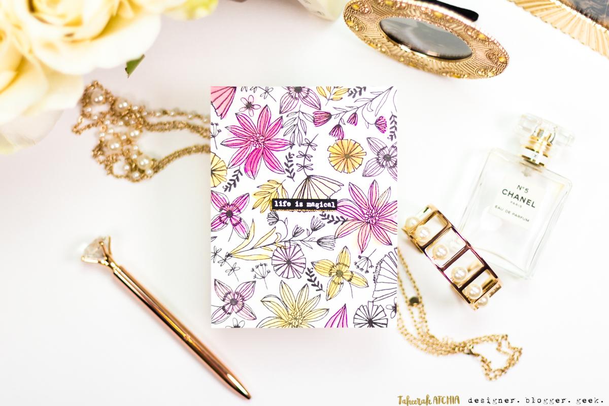 Seven Hills Crafts Blog: Life Is Magical Floral Card