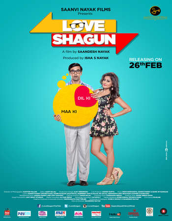 Poster Of Love Shagun 2016 Hindi 350MB HDRip 480p Watch Online Free Download downloadhub.net