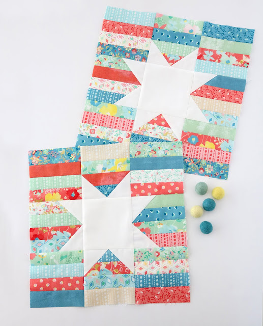 Twinkle Twinkle quilt blocks from the book, Charming Baby Quilts by Melissa Corry.  Blocks by Andy of A Bright Corner