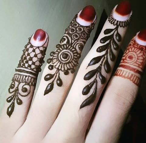 Henna Design for Fingers 3