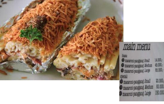Macaroni panggang kuliner khas bogor