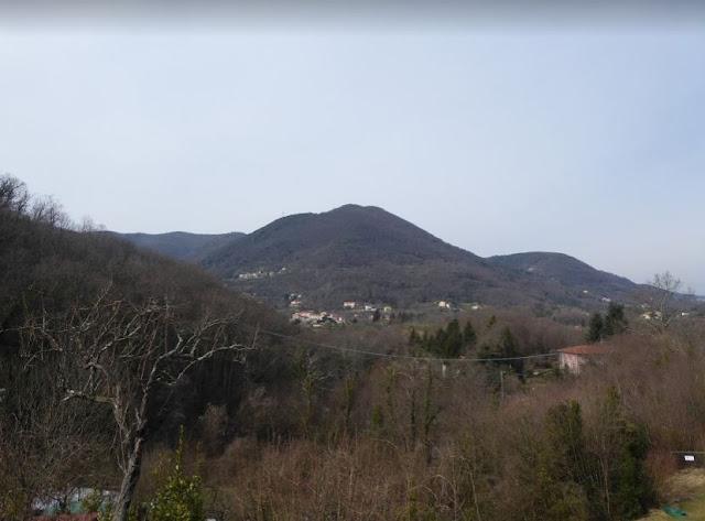 panorama verso l'entroterra della Spezia
