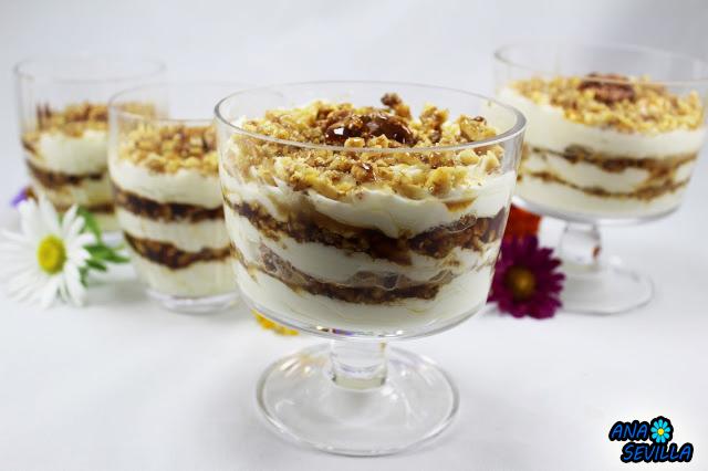 Triflé de nata y nueces Thermomix