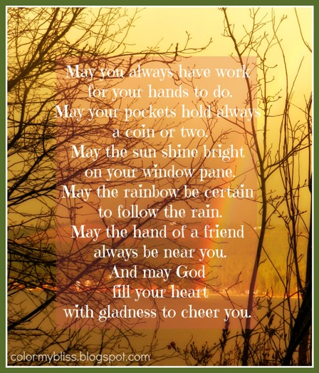 Color My Bliss: An Irish Blessing And A Happy Saint