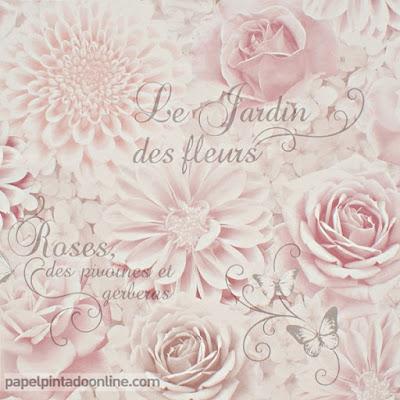 Papel Pintado Flores Romanticas