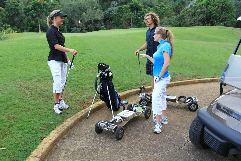Electric Golf Caddy >> wackyboards: GolfBoard and Golf Skate Caddy