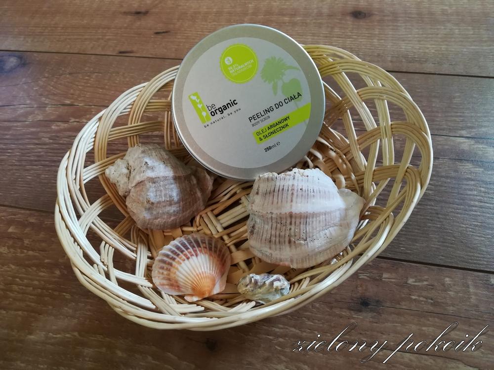 Kosmetycznie: Be Organic - Peeling do ciała OLEJ ARGANOWY & SŁONECZNIK