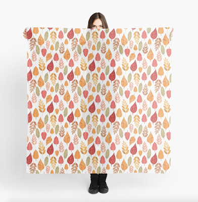 Redbubble Leaf Pattern Scarf
