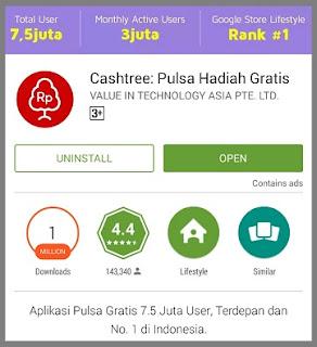 Cashtree Aplikasi Pulsa Gratis di Android