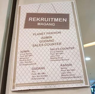 Lowongan kerja planet fashion bandung 2020 terbaru