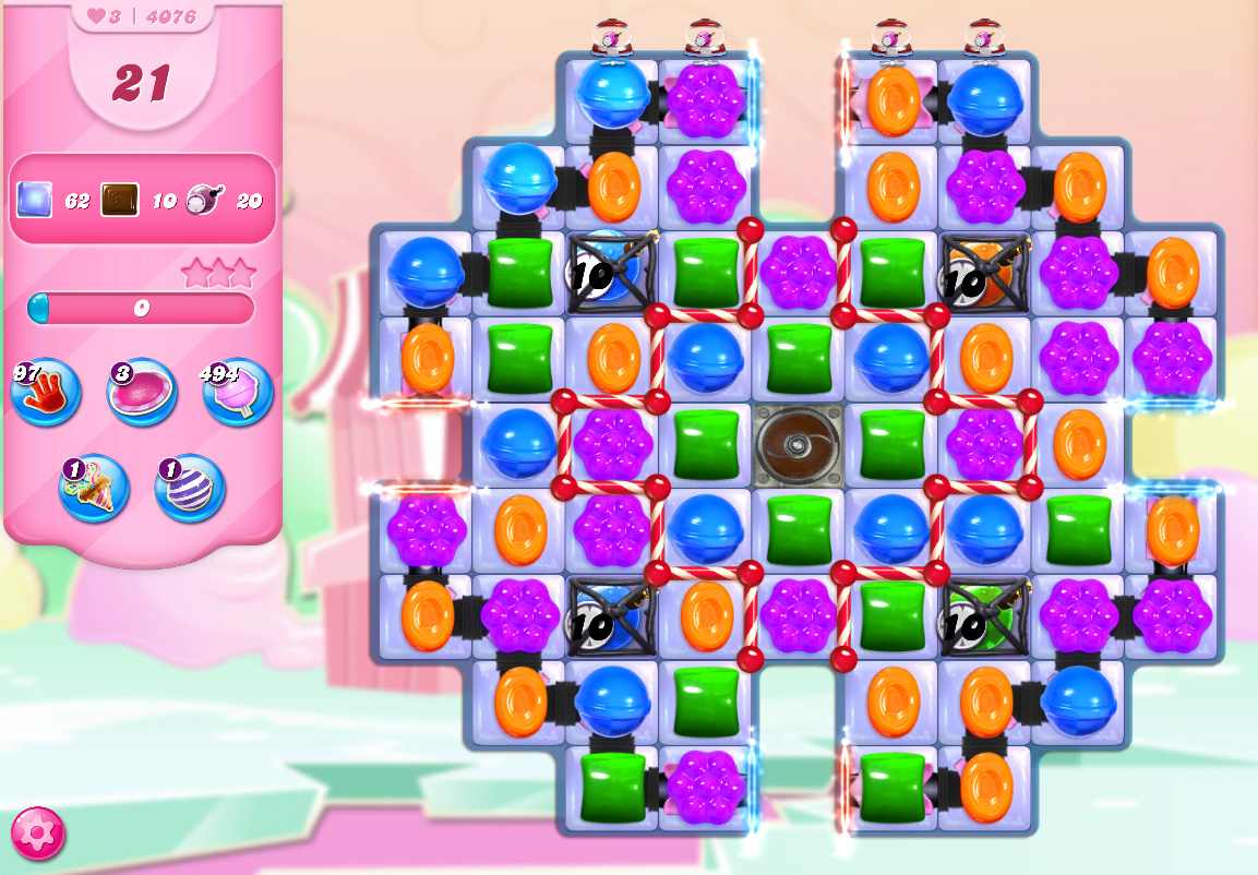 Candy Crush Saga level 4076