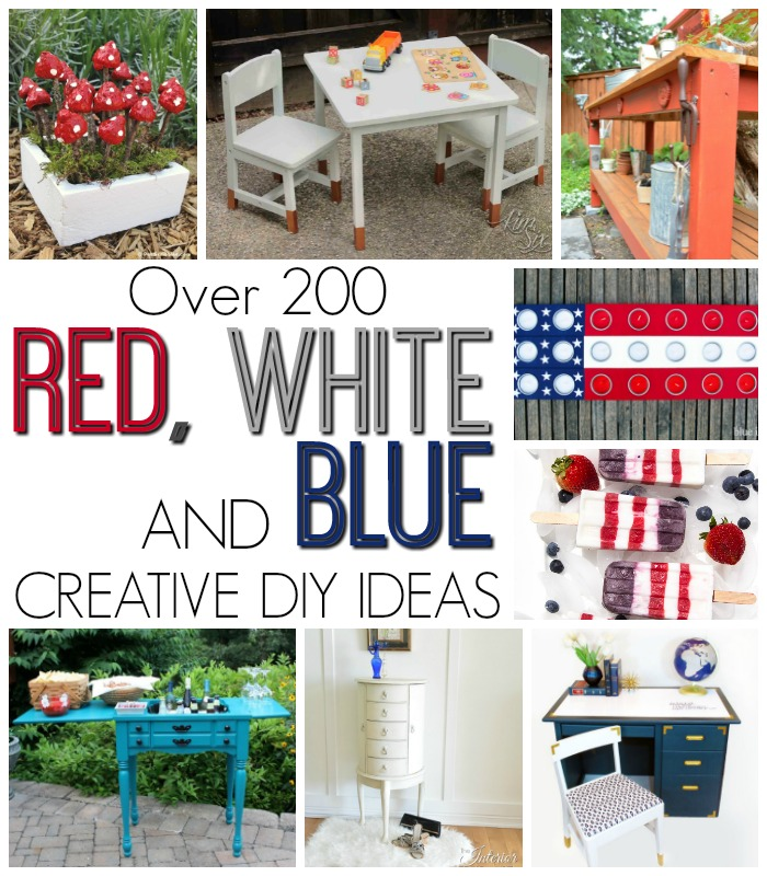 Over 200 Red, White and Blue Creative DIY Ideas