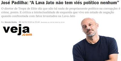 José Padilha: Explicação psicanalítica sobre artistas e intelectuais não aceitarem as evidências contra Lula e o PT