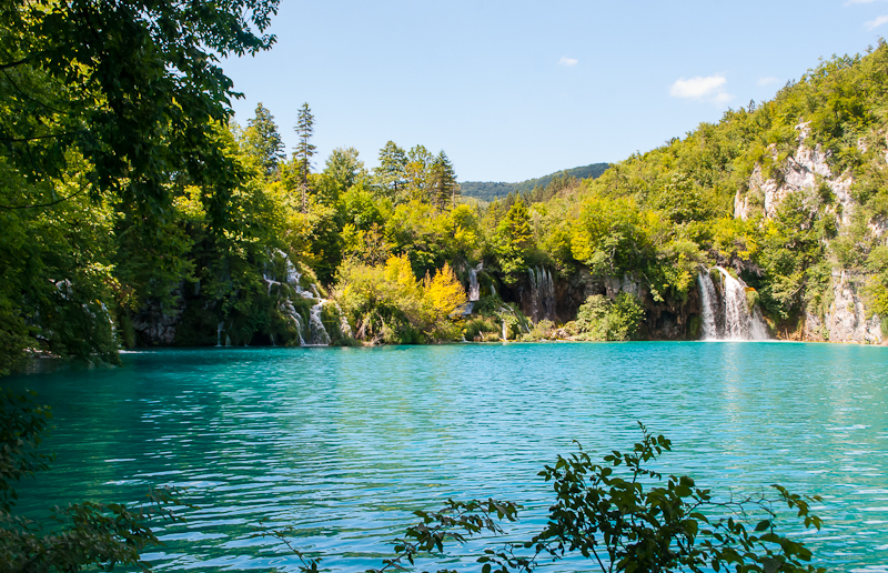 images of the lakes at Plitvice Lakes National Park