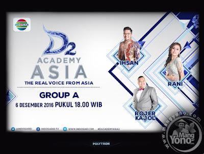 D'Academy Asia 2 Babak 9 Besar Grup A : Ihsan, Rani, Rojer Kajol.