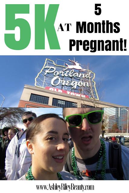 5K at 5 MONTHS PREGNANT Vlog! | PORTLAND'S SHAMROCK RUN