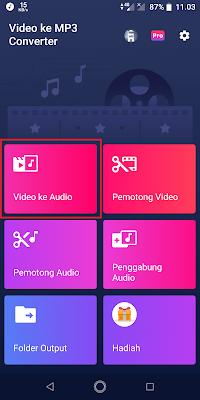 Sobat buka aplikasinya dan pilih Video ke Audio.