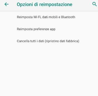 Ripristinare Android