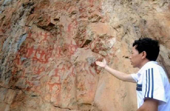 Huashan Mountain rock painting submitted for World Heritage listing in 2016