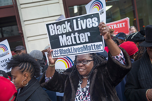 Activists of the movement Black Lives Matter