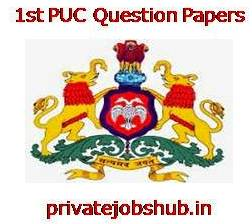1st PUC Question Papers