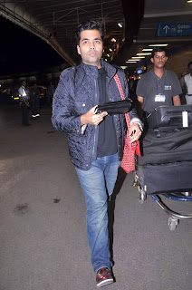 Karan Johar & Manish Malhotra leave for London Images