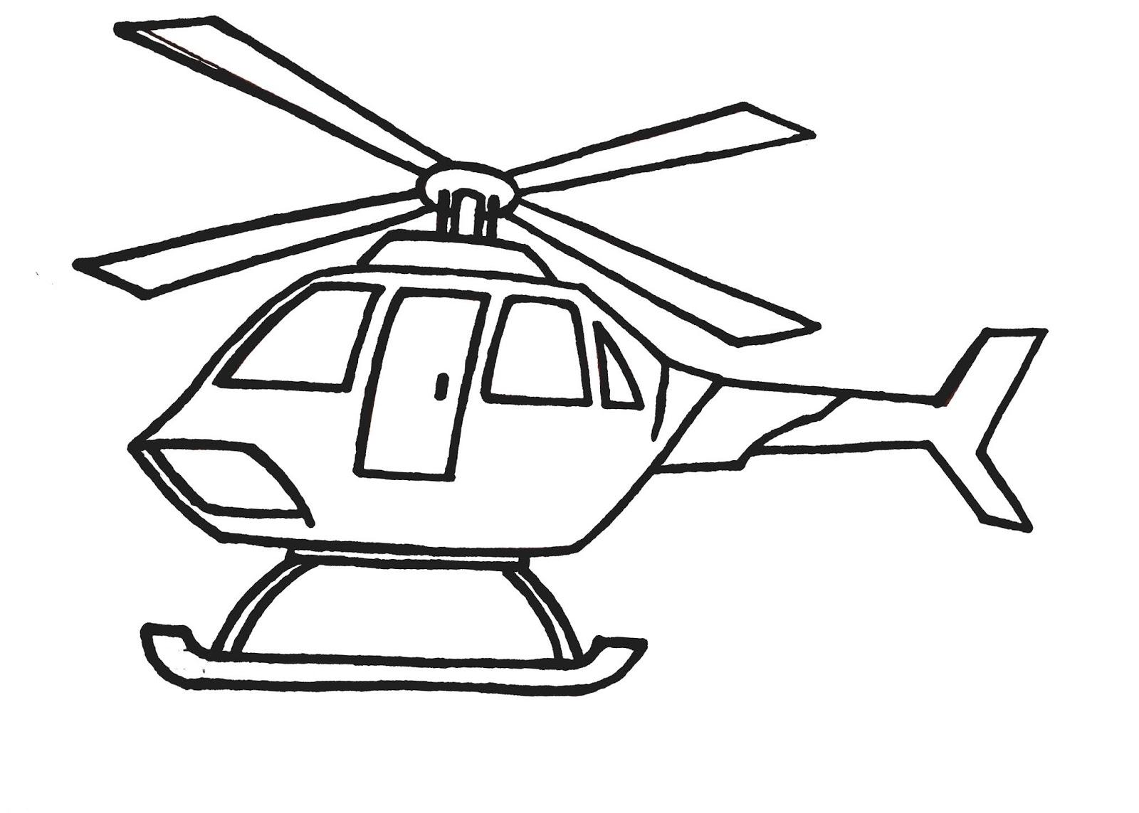 Karikaturku Indonesia Mewarnai Gambar Helikopter
