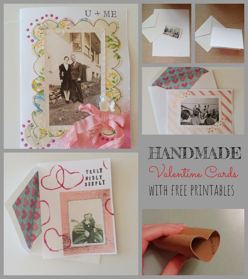 Handmade Valentine's Day Cards + Free Printables!