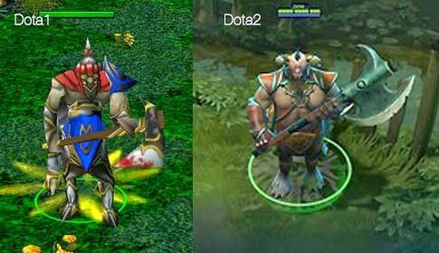 dota vs dota2 part 1 heroes look compared 1 hello i think