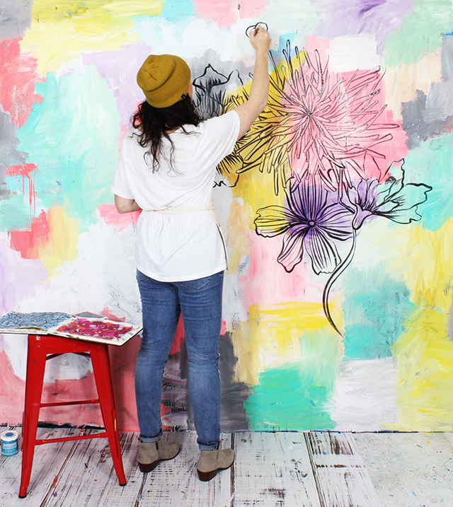 alisaburke: painting a statement wall: tips and tricks