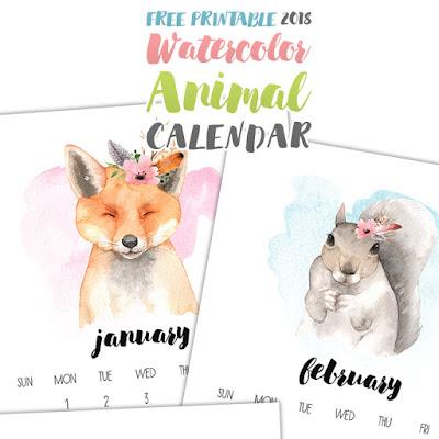 free 2018 animal calendar