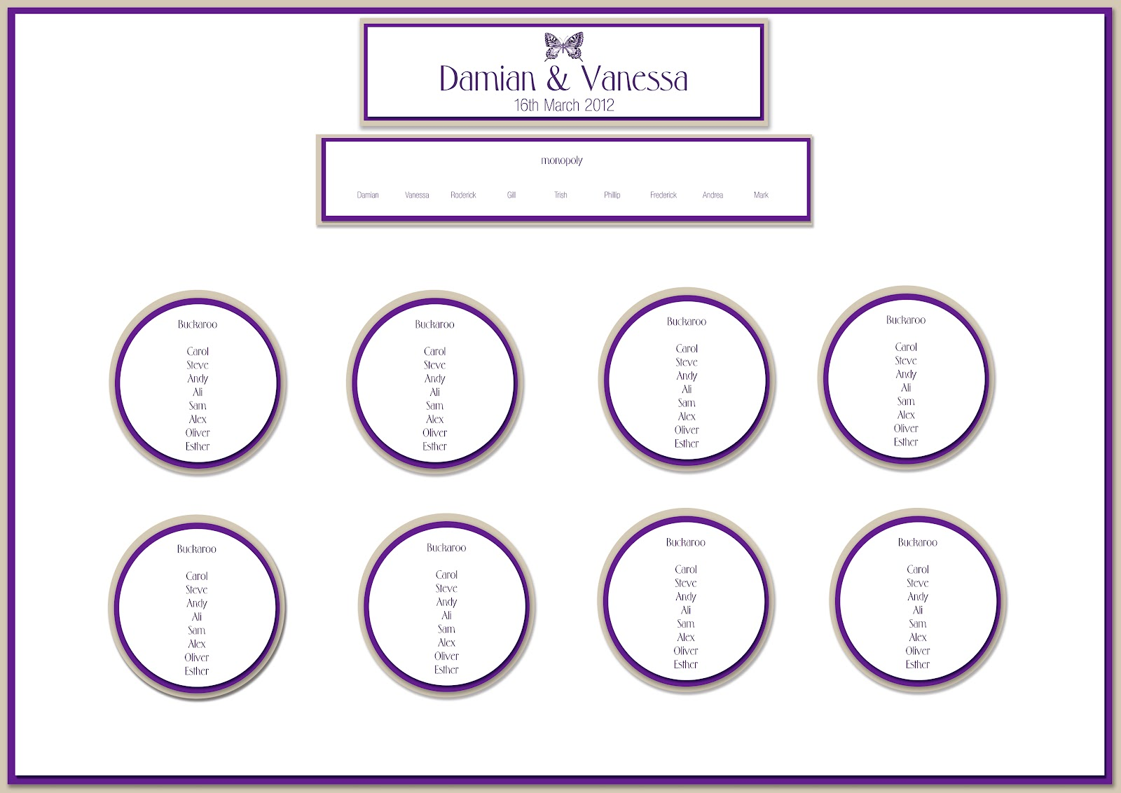 free seating chart template for wedding reception