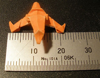 Papiroflexia u origami casi microscópico.