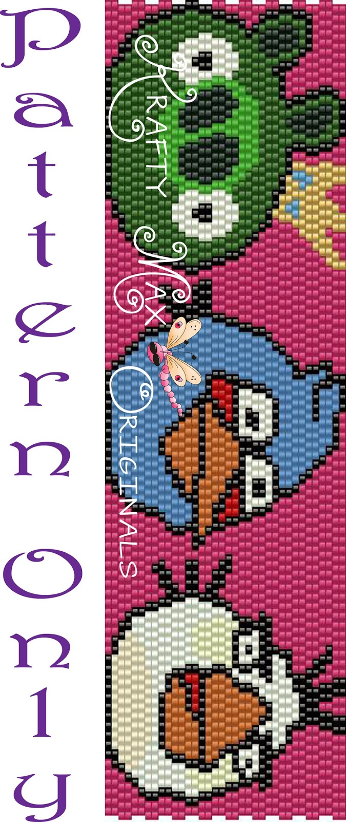 http://www.artfire.com/ext/shop/product_view/KraftyMax/8002100/angry_birds_-pig_blue_and_white_-pattern_only-a_krafty_max_original/design/patterns/jewelry/bracelets
