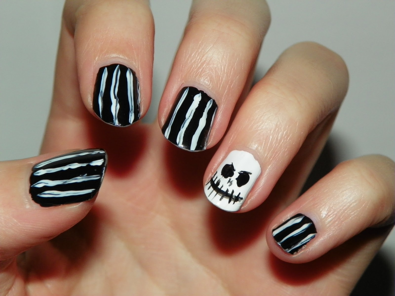 {Medieval Luck}: Halloween Nails: Jack Skellington