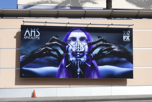 AHS Apocalypse breathing mask billboard