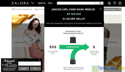 Saldo akun Zalora Indonesia | SurveiDibayar.com