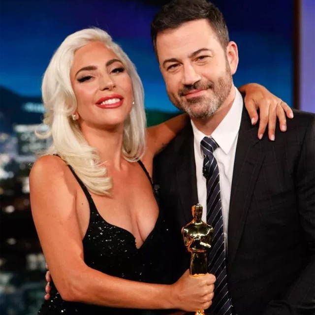 Lady Gaga Appears on Jimmy Kimmel Live
