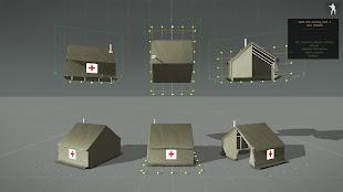Arma3用スウェーデンの建物MODの医療用テント