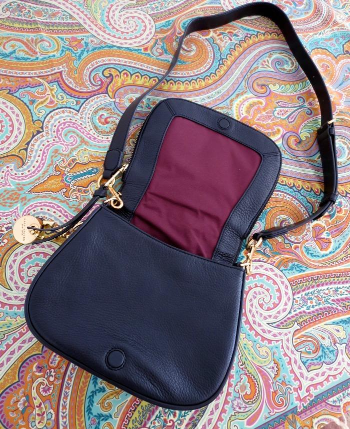 Recruit Black Leather Small Saddle Bag