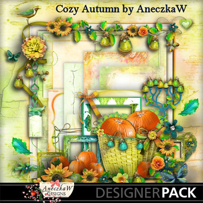 Scrapbooking kit about autumn