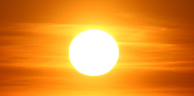 imagen de sol intenso