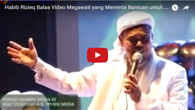 Habib Rizieq Bikin Video Tandingan, Balas Video Megawati yang Meminta Bantuan untuk Menangkan Ahok