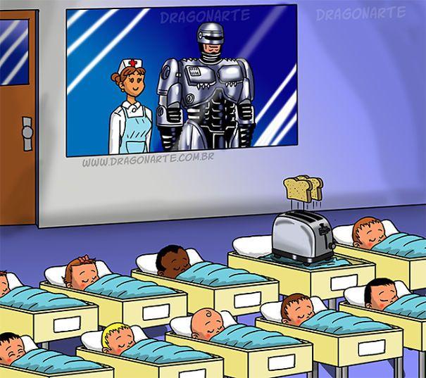 Robocop's Baby,ابطال خارقون مع أطفالهم