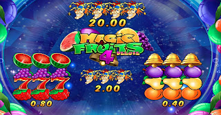 Paytable in Magic Fruits 4 Deluxe
